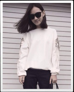 Ji cheng Embroidered Sweatshirt
