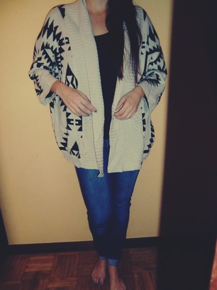 Tribal Style Cropped  Cardigan