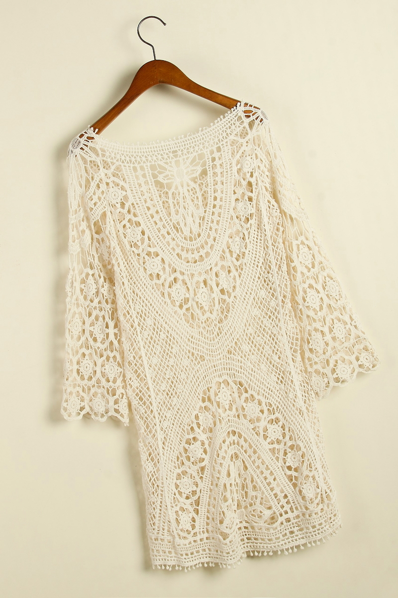 Crochet Cover Up Swimsuit knit Beach dress | victoriaswing